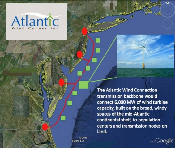 Die Atlantic Wind Connection entsteht vor der Atlantikküste der USA
