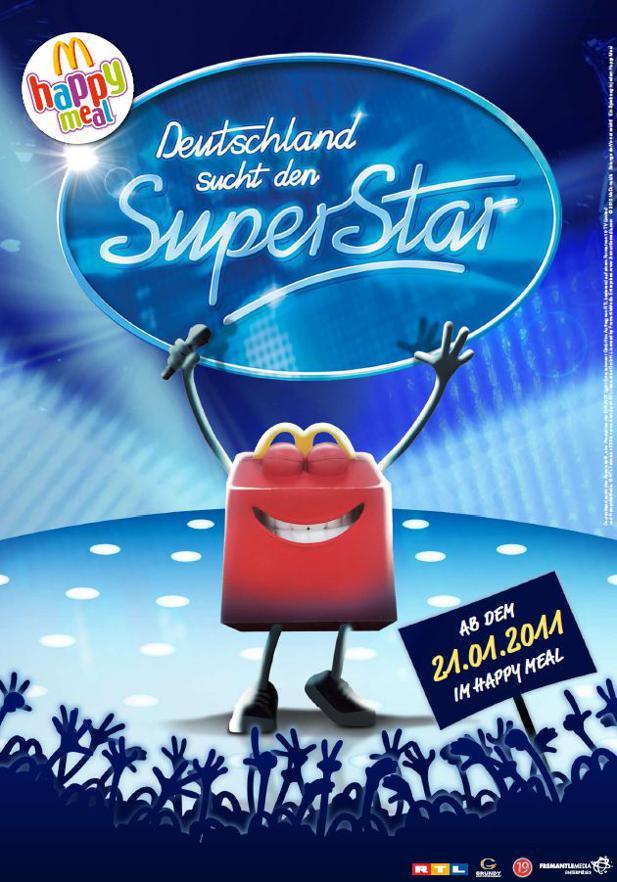 Deutschland Sucht Den Superstar Kommt Ins Mcdonalds Happy Meal