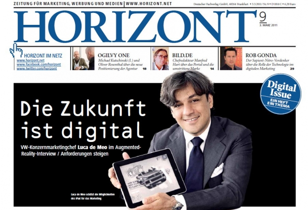 Die Digital Issue von HORIZONT bietet ein Video-Interview mit VW-Marketingchef Luca de Meo