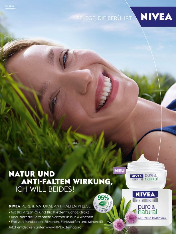 "Nivea launcht neue Pflegeserie ""Pure & Natural"""