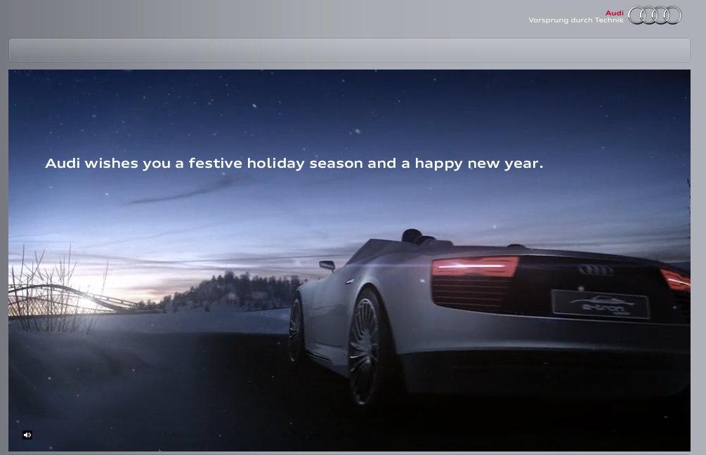 Energiesparpost von audi - Interaktive weihnachtskarte ...