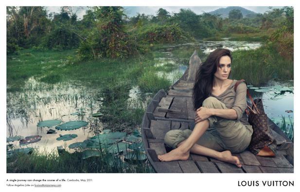 a92dad72d7ea6 Louis Vuitton launcht Werbemotiv mit Angelina Jolie