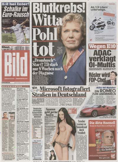 Zitate ranking bild zeitung h ngt spiegel und sz ab for Zeitung spiegel