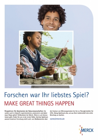 "Die Motive greifen den Firmenslogan ""Make great things happen"" auf"