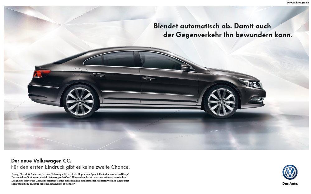 Premiere für den CC Volkswagen bringt Stil auf die Straße