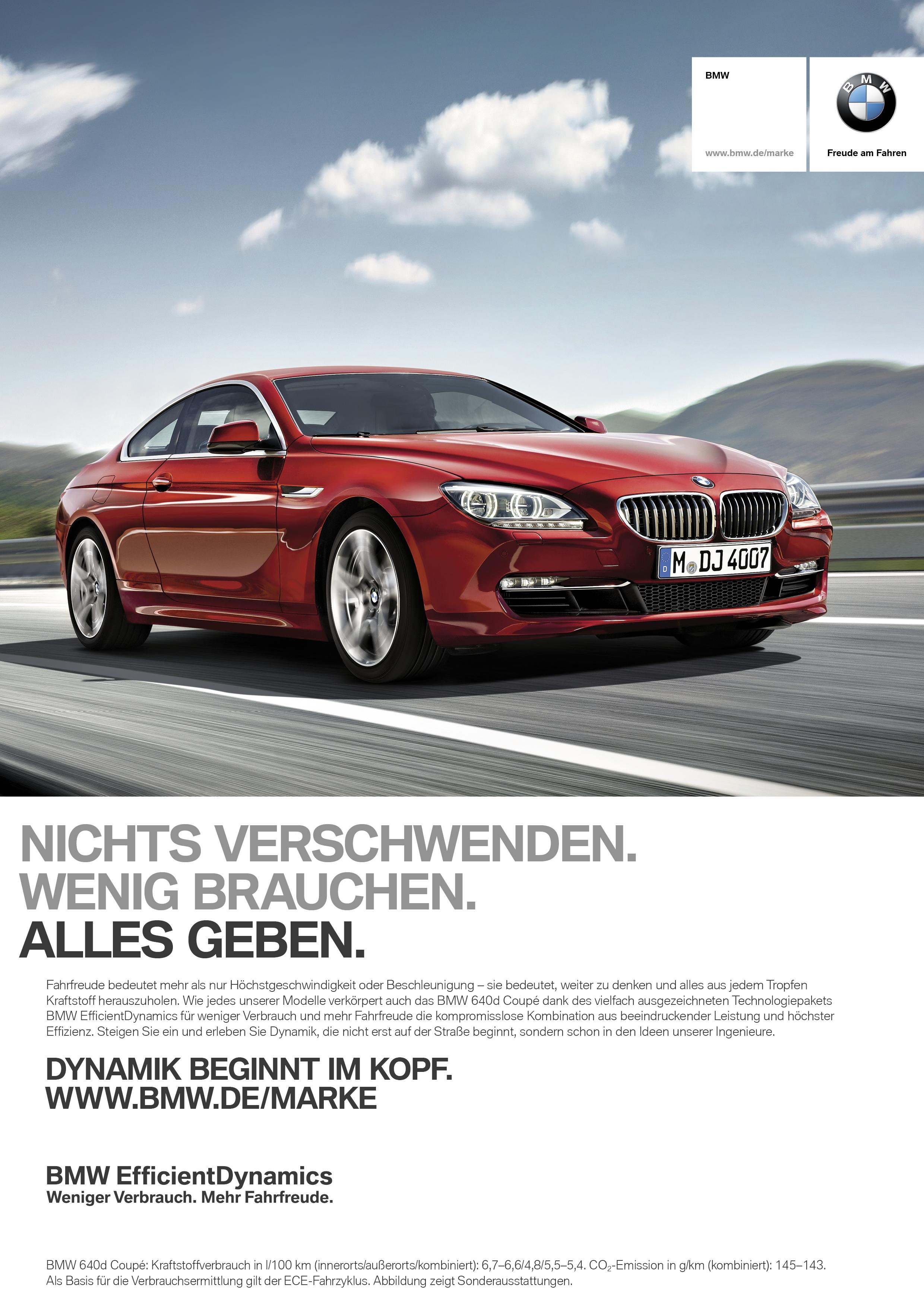 Markenkampagne Bmw F 228 Hrt Mit Neuem Leitspruch Quot Dynamik