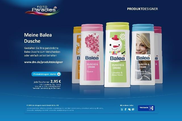 Fotoparadies produktdesigner dm launcht neuartige online - Duschgel gestalten ...