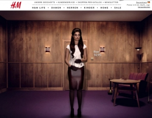 Unter hm.com bietet H&M ein animiertes Lookbook in 3D-Optik