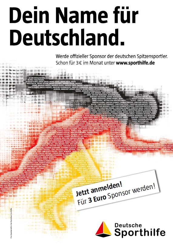 deutsche sporthilfe ist die bekannteste marke f r sportf rderung. Black Bedroom Furniture Sets. Home Design Ideas