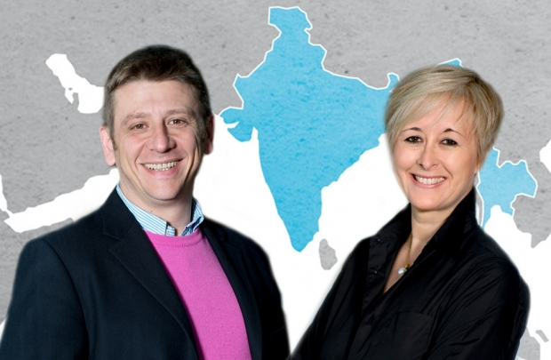 Massimo Monti, Managing Director von Hubert Burda Media India, und Julie Sherborn, CEO Burda Asia