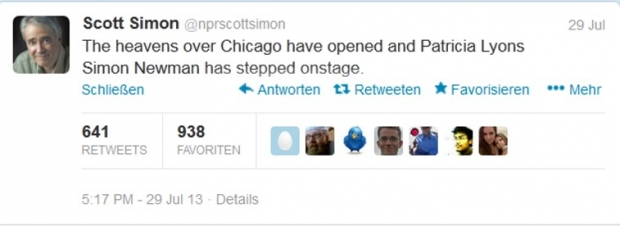 Scott Simon meldet via Twitter den Tod seiner Mutter (Bild: Screenshot twitter.com/nprscottsimon)