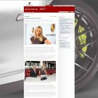 Screenshot aus dem Porsche-Internet mit Maria Sharapova