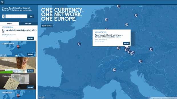 "Screenshot der ""Connecting Euro""-Website (Foto: Serviceplan)"