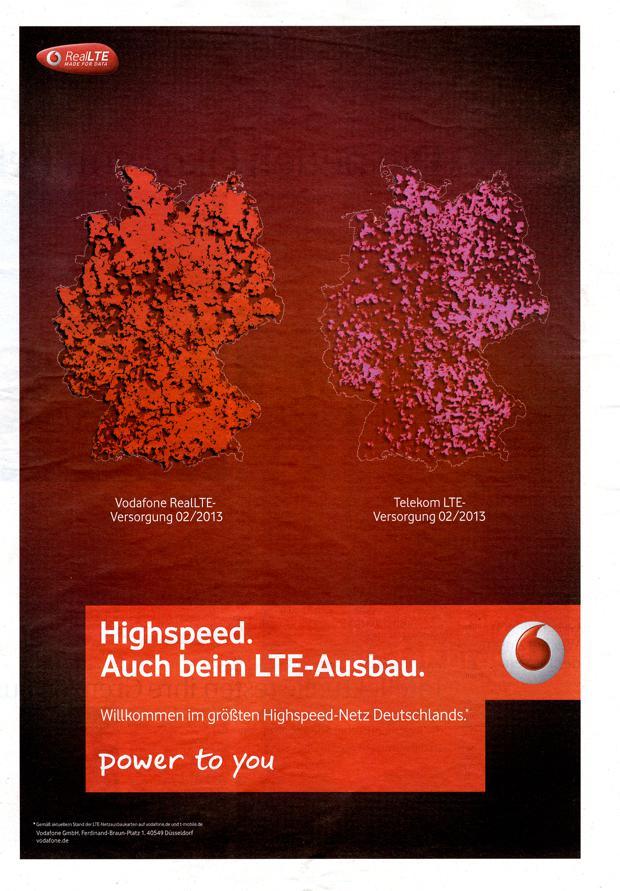 Vergleichende Werbung: Vodafone fährt der Telekom an den