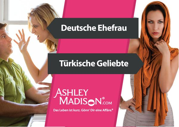 Ehefrau vs. Geliebte - Motiv der Plakatkampagne von Ashley Madison (Foto: Ashley Madison)