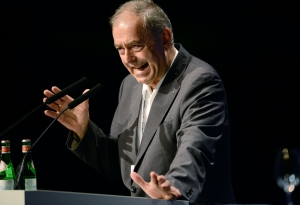 Franz-Josef Rademacher auf dem Deutschen Medienkongress (c) Thomas Lohnes / Getty Images