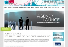 Screenshot der Agency-Lounge-Landingpage (Screenshot: Dmexco.de)