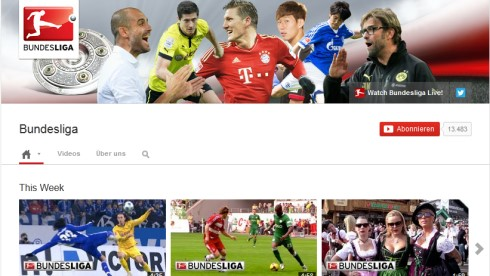Screenshot des internationalen Youtube-Kanals der DFL