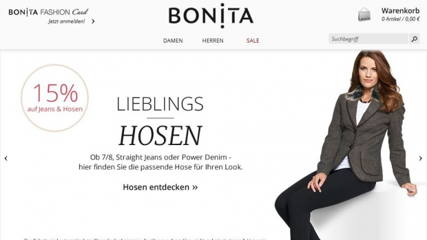 Screenshot der Bonita-Website