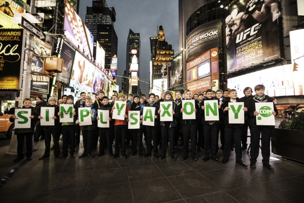 Thomaner-Chor am Times Square (Foto: Ketchum Pleon)