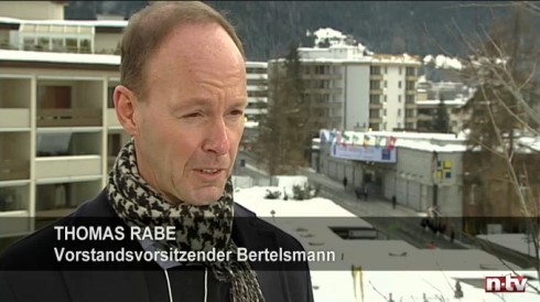 Thomas Rabe im Interview mit N-TV in Davos