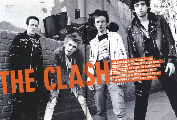 "Titelhelden der regulären ""Musikexpress""-Ausgabe: ""The Clash"""