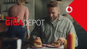 """Kampagne: Vodafone GigaDepot-Spot """"Burger"""""""
