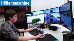 Kampagne: Minecraft mit 2700 FPS auf der Höllenmaschine 7 mit User-Tester Stephan - PC-Welt
