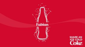 Kampagne: Share an Ice Cold Coke - Fabian