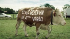 Kampagne: Staukühe on Tour. Gut gelaunt in die Ferien mit dem Bayern-Ticket