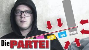 Kampagne: Nichtwähler wählen die PARTEI! Wahlwerbespot zur Bundestagswahl 2017 mit Nico Semsrott