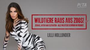 Kampagne: Wildtiere gehören in die Freiheit! Lilli Hollunder für PETA