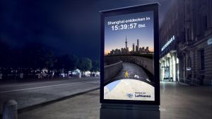 Kampagne: Lufthansa - Datengetriebene OOH-Screens
