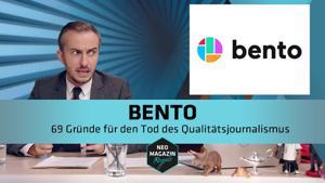 Kampagne: Neo Magazin Royale - Bento: 69 Gründe für den Tod des Qualitätsjournalismus