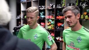 Kampagne: Fin Bartels und Florian Kainz putzen Schuhe – Werder Bremen & Collonil