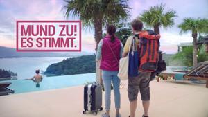 """Kampagne: Ab-in-den-Urlaub.de TV-Spot Pool """"Mund zu! Es stimmt."""""""