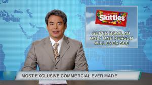 Kampagne: Skittles ))) Super Important Super Bowl News