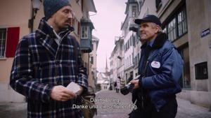 Kampagne: NoBillag Nein -Trottoir