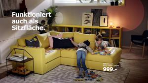 Kampagne: Wirz für Ikea: VIMLE. Funktioniert auch als Sitzfläche.