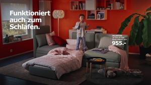 Kampagne: Wirz für Ikea: VALLENTUNA. Funktioniert auch zum Schlafen