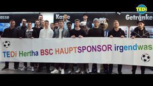 Kampagne: TEDi Hertha BSC Hauptsponsor irgendwas